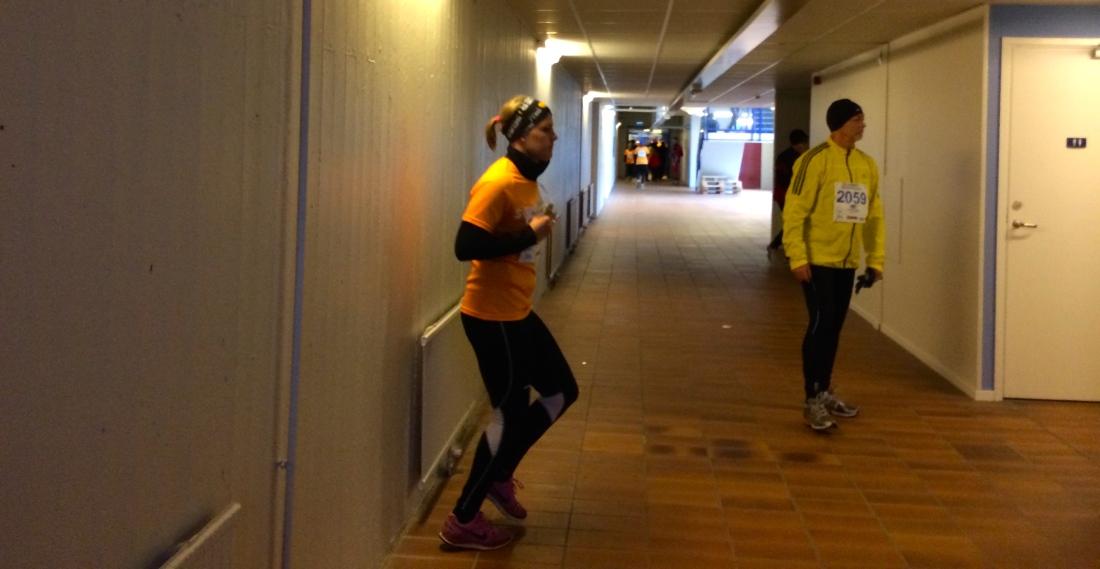 Snällt av Luleå tekniska universitet att låna ut lite lokaler för oss att hålla oss torra i.