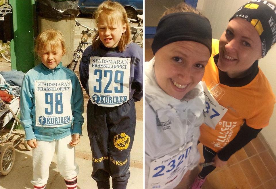 För 25 år sedan sprang vi också Luleå Stadsmara. Fast vi sprang väl lite längre den här gången.